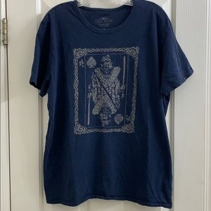 Lucky Brand graphic tee size L king of clubs